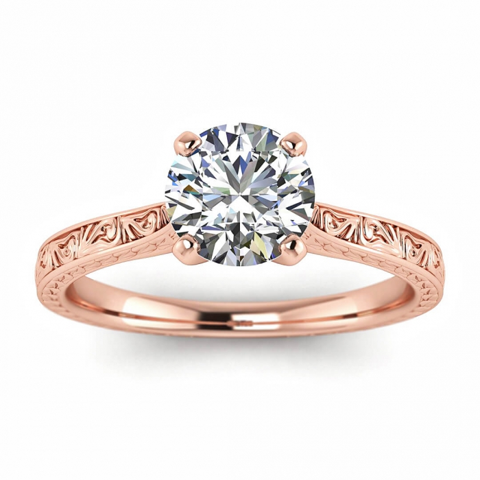 Rose Gold Engagement Ring Everleigh Braverman Jewelry