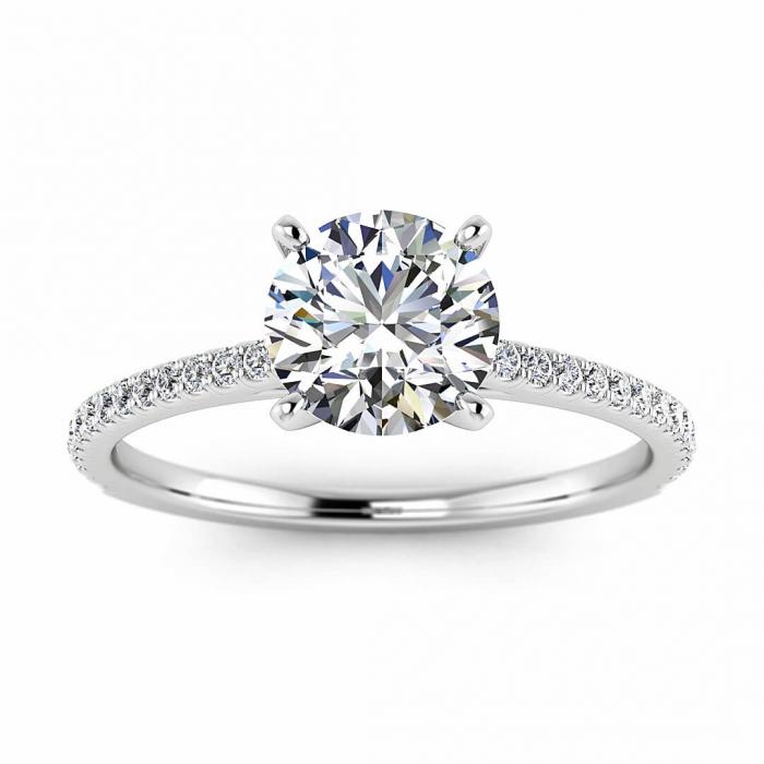 Micro Pave Engagement Ring Anahi Braverman Jewelry