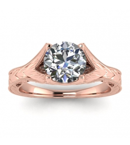 14k Rose Gold Nova Vintage Ring