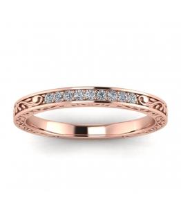 18k Rose Gold Vintage Diamond Diamond Band