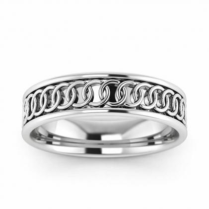 14k White Gold Ring of Endless Love 5mm
