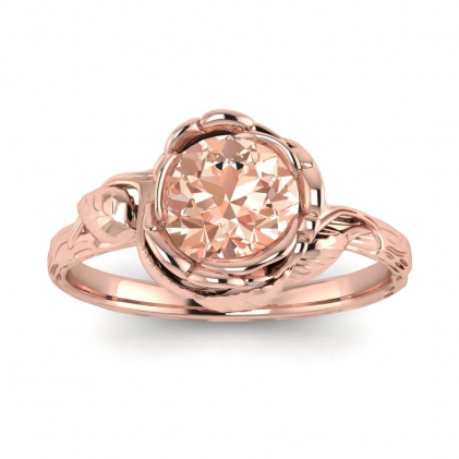 14k Rose Gold Abelia Morganite Engagement Ring