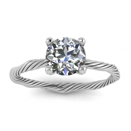 14k White Gold Azalea Braided Ring