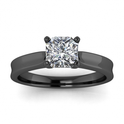 14k Black Gold Atlas Radiant Cut Diamond Contemporary Engagement Ring