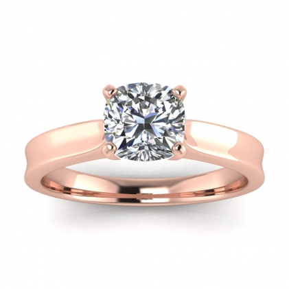 14k Rose Gold Atlas Cushion Cut Diamond Contemporary Engagement Ring