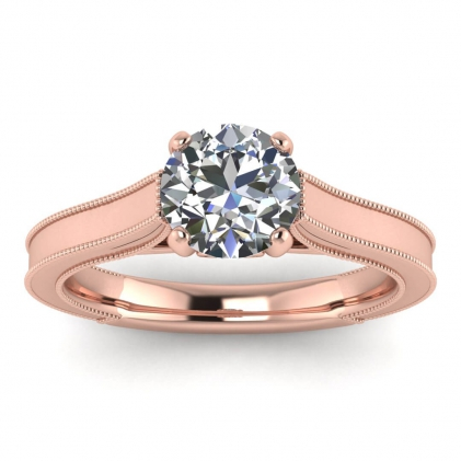 14k Rose Gold Addison Diamond Vintage Engagement Ring (1/9 CT. TW.)