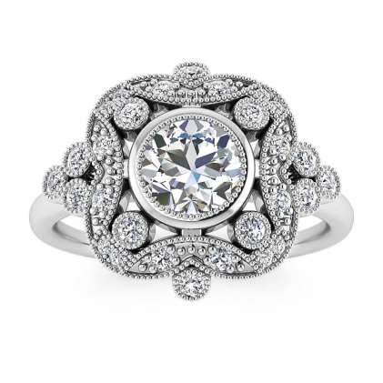 14k White Gold Adeline Vintage Diamond Engagement Ring (1/4 CT. TW.)