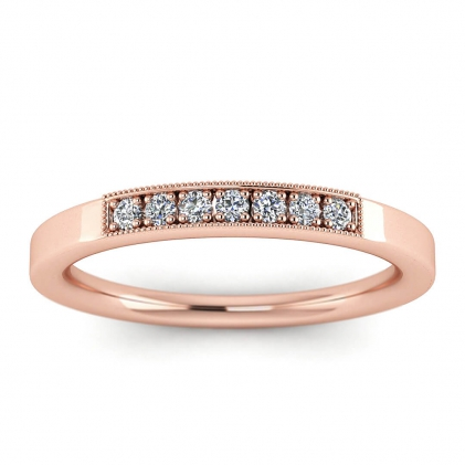 14k Rose Gold Imogen Unique Diamond Wedding Ring (1/9 CT. TW.)