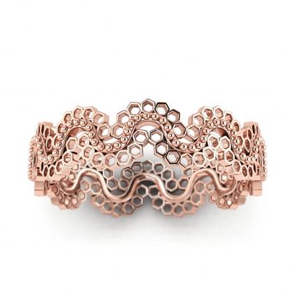 14k Rose Gold Louise Vintage Wedding Ring