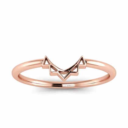 14k Rose Gold Laurel Crown Halo Enhancer Ring