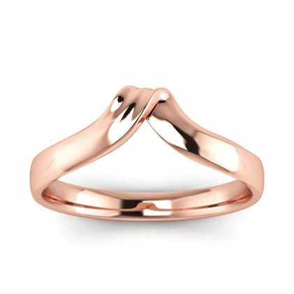 14k Rose Gold Twisted Ring