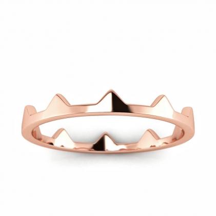 14k Rose Gold Triangular Stacking Ring