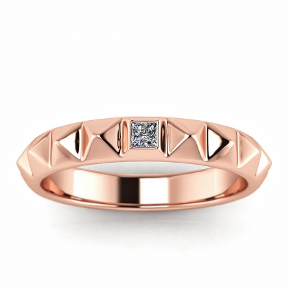 14k Rose Gold Lia Princess Cut Diamond Wedding Ring