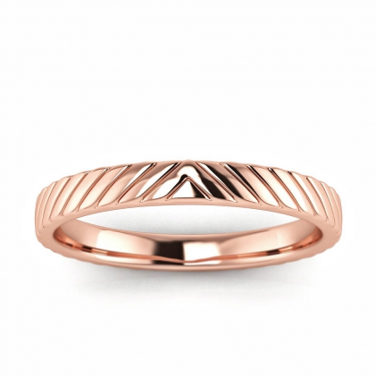 14k Rose Gold Engraved Ring