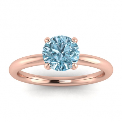 14k Rose Gold Maja Classic Aquamarine Solitaire Ring
