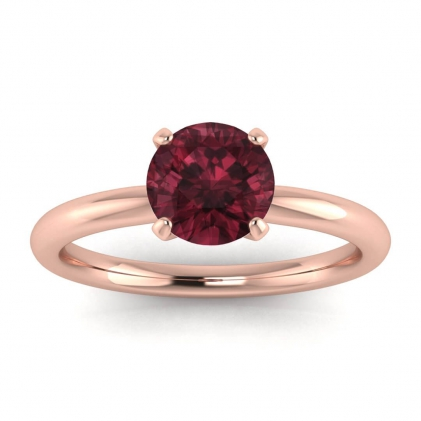 14k Rose Gold Maja Classic Garnet Solitaire Ring
