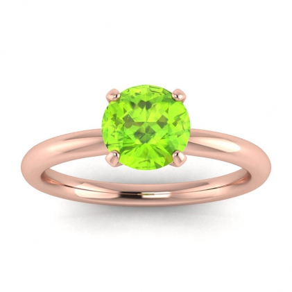 14k Rose Gold Maja Classic Peridot Solitaire Ring