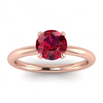 14k Rose Gold Maja Classic Ruby Solitaire Ring
