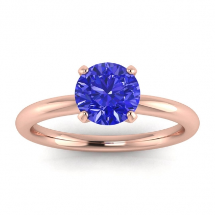 14k Rose Gold Maja Classic Sapphire Solitaire Ring