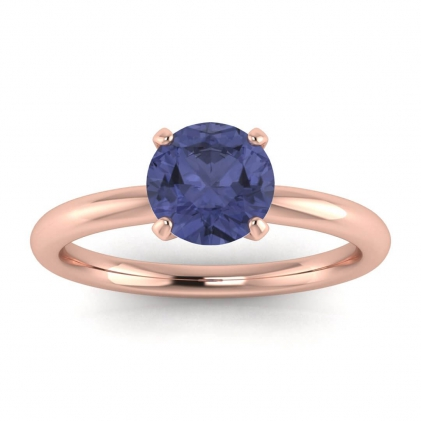 14k Rose Gold Maja Classic Tanzanite Solitaire Ring