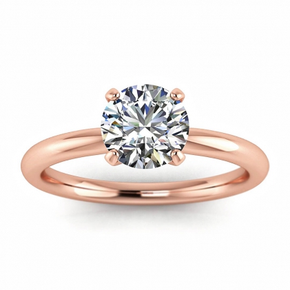 14k Rose Gold Maja Classic Solitaire Ring