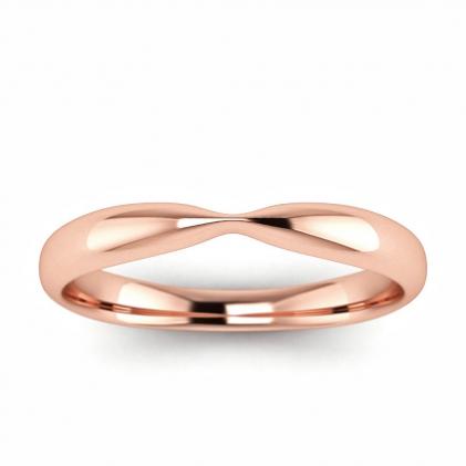 14k Rose Gold Monet Tapered Wedding Ring