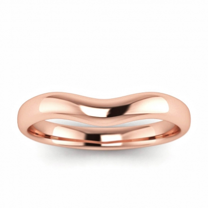14k Rose Gold Tove Curved Wedding Ring