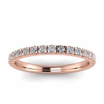14k Rose Gold Diamond Band Ring (1/3 CT. TW.)