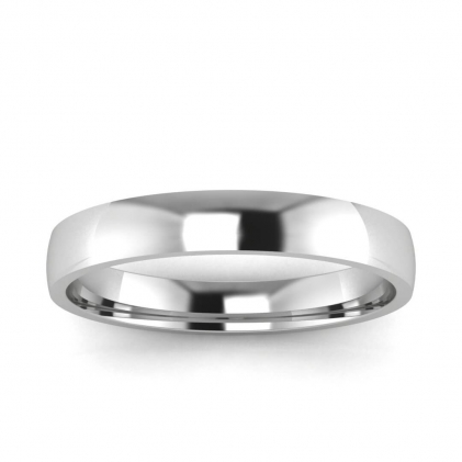 14k White Gold 3mm Wedding Band 3mm