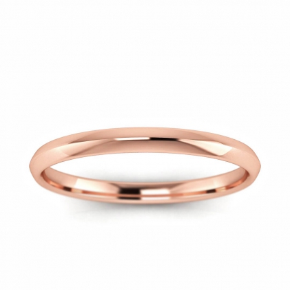 14k Rose Gold Knife Edge Band