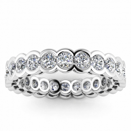14k White Gold Alluras Unique Bezel Diamond Eternity Ring (1 7/10 CT. TW.)