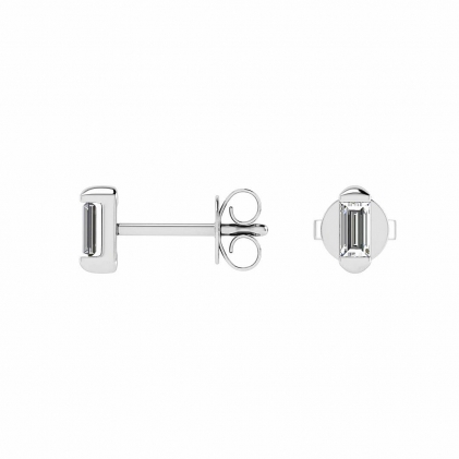 14k White Gold Baguette Diamond Stud Earrings (1/4 CT. TW.)