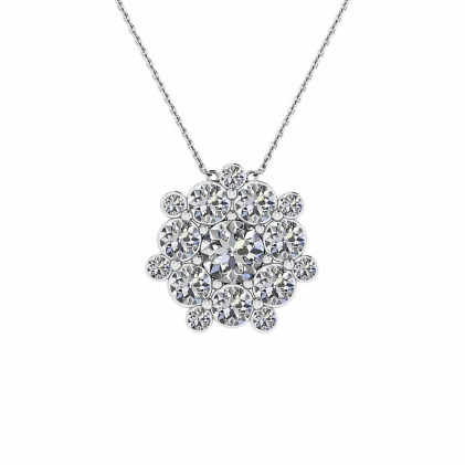 14k White Gold Ebba Diamond Snowflake Pendant (1 CT. TW.)