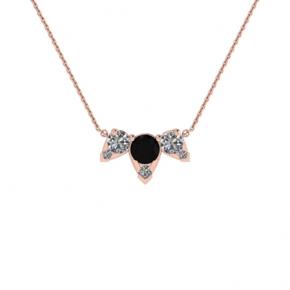 14k Rose Gold Multiple Black and White Diamond Pendant (3/7 CT. TW.)