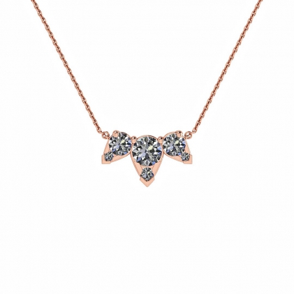 14k Rose Gold Multiple Diamond Pendant (3/7 CT. TW.)
