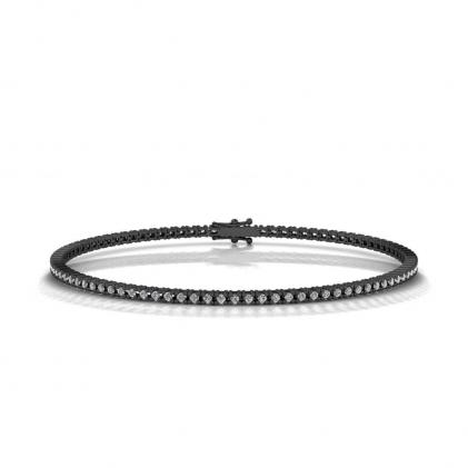 14k Black Gold Pave Diamond Tennis Bracelet (9/10 CT. TW.)