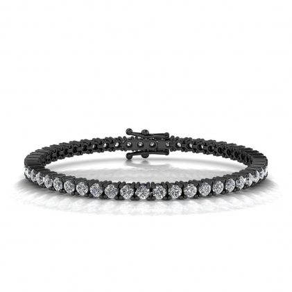14k Black Gold Fancy Diamond Tennis Bracelet (7 2/3 CT. TW.)