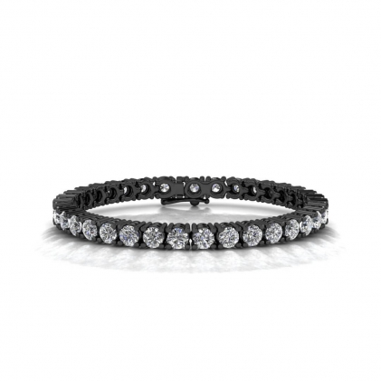 14k Black Gold Endless Love Diamond Tennis Bracelet (8 3/4 CT. TW.)