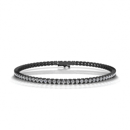 14k Black Gold Anniversary Diamond Tennis Bracelet (3 CT. TW.)