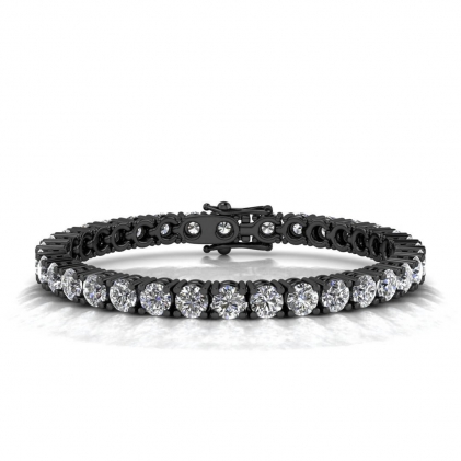 14k Black Gold Luxurious Diamond Tennis Bracelet (17 4/5 CT. TW.)