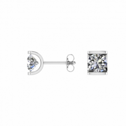 14k White Gold Art Nouveau Earrings