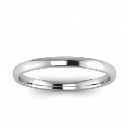 14k White Gold 1.8mm Wedding Band