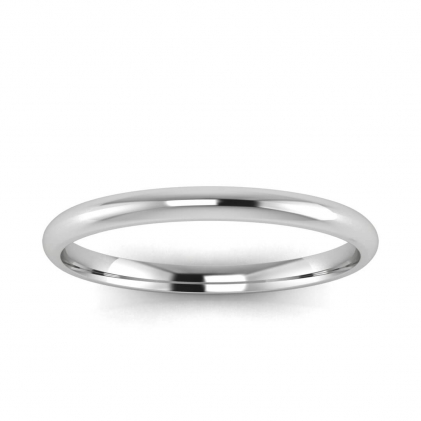 14k White Gold 1.8mm Comfort Fit Ring