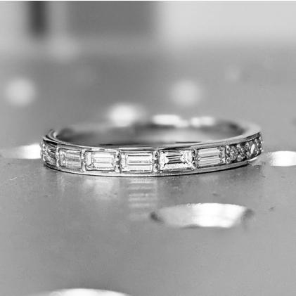 #1 #Carat #5 #Stone #Diamond #Anniversary #Ring #Band #14K #Yellow #Gold #Anniversary #Gift #For #Her #5 #year #anniversary #gift #half #eternity #band