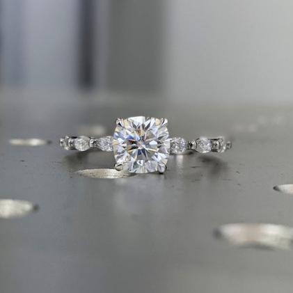2 Carat 11 Stone Anniversary Ring Band 14K White Gold, Anniversary Gift For Her, anniversary gift, half eternity band