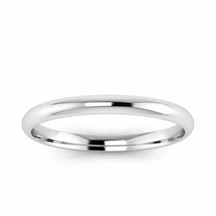 14k White Gold 2mm Comfort Fit Ring