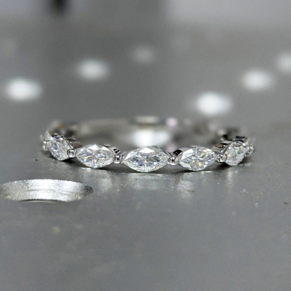 art deco, bridal, cluster, delicate, emerald cut, forever one, promise, unique, gift for women, moissanite, rose gold, vintage, wedding